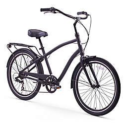 sixthreezero EVRYjourney Men's 26-Inch 7-Speed Sport Hybrid Cruiser in Matte Black
