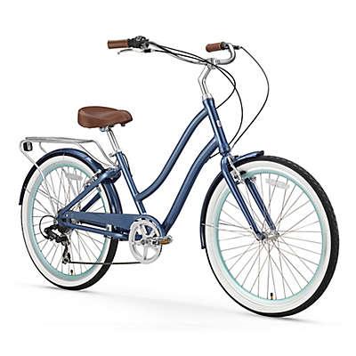 "sixthreezero Women's EVRYjourney 26"" Seven Speed Step-Through Touring Hybrid Bicycle"