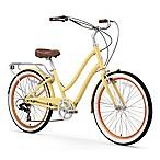 sixthreezero Women's EVRYjourney 26  Seven Speed Step-Through Touring Hybrid Bicycle in Cream