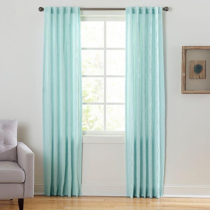 Alternate image 1 for Coastal Waves 84-Inch Rod Pocket/Back Tab Window Curtain Panel in Seafoam