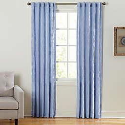 Coastal Waves Rod Pocket/Back Tab Window Curtain Panel