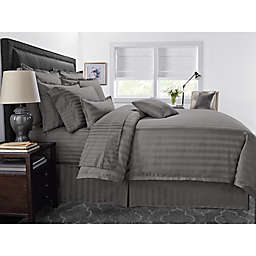 Wamsutta® 500-Thread-Count PimaCott® Damask Stripe 3-Piece King Comforter Set in Grey