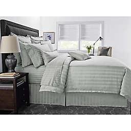 Wamsutta® 500-Thread-Count PimaCott® Damask Stripe 3-Piece King Comforter Set in Silver
