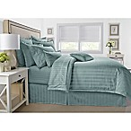 Wamsutta® 500-Thread-Count PimaCott® Damask Stripe Full/Queen Comforter Set in Aqua