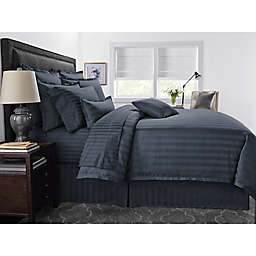 Wamsutta® 500-Thread-Count PimaCott® Damask Stripe 3-Piece Full/Queen Comforter Set in Denim