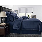 Wamsutta® 500-Thread-Count PimaCott® Damask Stripe King Comforter Set in Navy