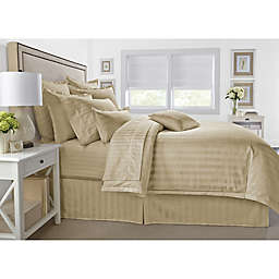 Wamsutta® 500-Thread-Count PimaCott® Damask Stripe 3-Piece King Comforter Set in Taupe