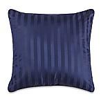 Wamsutta® 500-Thread-Count PimaCott® Damask Stripe European Throw Pillow in Navy