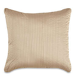 Wamsutta® 500-Thread-Count PimaCott® Damask Stripe Square Throw Pillow in Taupe