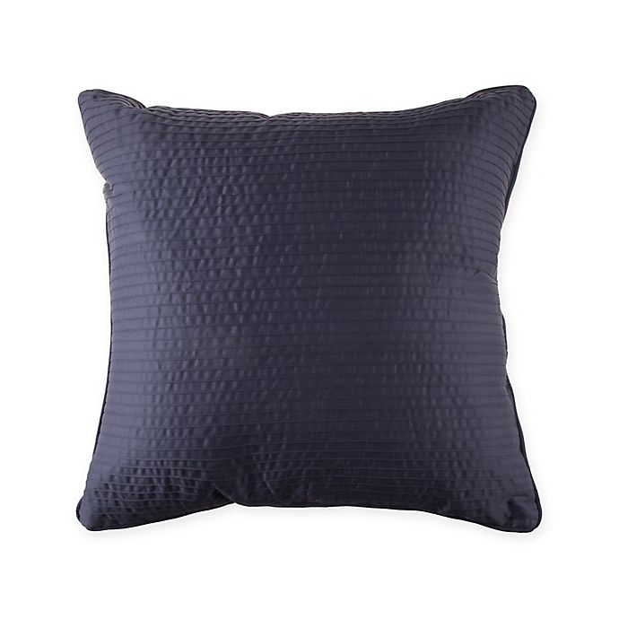 Alternate image 1 for Wamsutta® 500-Thread-Count PimaCott® Damask Stripe Square Throw Pillow in Denim