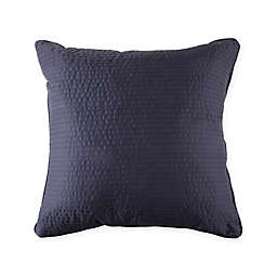 Wamsutta® 500-Thread-Count PimaCott® Damask Stripe Square Throw Pillow in Denim