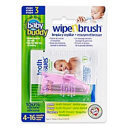 Baby Buddy Wipe-N-Brush in Pink