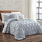 Brooklyn Loom Jackson Pleat King Comforter Set in Spa