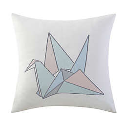 Brooklyn Loom Jackson Embroidered Swan Square Throw Pillow