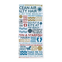 Avanti Beach Words Printed Kitchen Towel