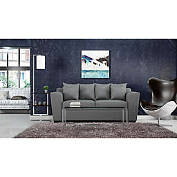 Industrial Ikat Modern Living Room