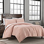Garment Washed Solid Full/Queen Comforter Set in Blush