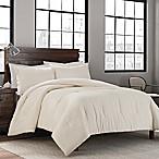 Garment Washed Solid Full/Queen Comforter Set in Cream