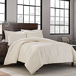 Garment Washed Solid 2-Piece Twin/Twin XL Comforter Set in Cream