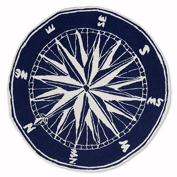 Alternate image 1 for Liora Manne Front Porch Compass Indoor/Outdoor Rug