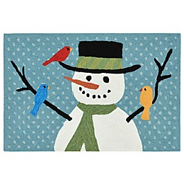 Liora Manne Frontporch Snowman and Friends Indoor/Outdoor Mat