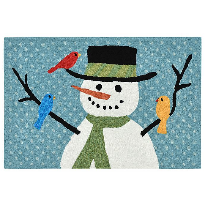 Alternate image 1 for Liora Manne Frontporch Snowman and Friends 1-Foot 8-Inch x 2-Foot 6-Inch Indoor/Outdoor Mat
