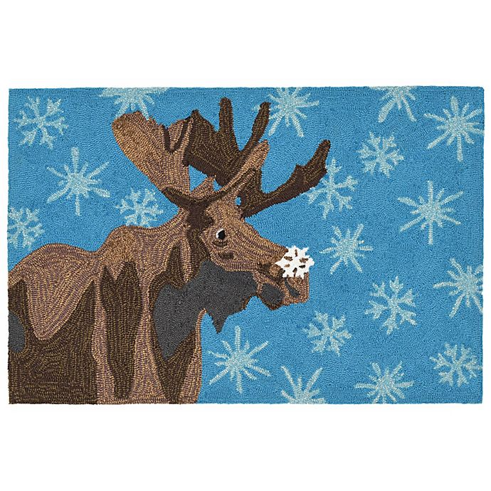 Liora Manne Frontporch Moose Amp Snowflake Indoor Outdoor