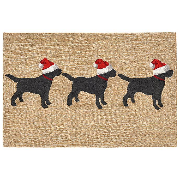 Alternate image 1 for Liora Manne Frontporch Dogs Christmas Indoor/Outdoor Mat in Neutral