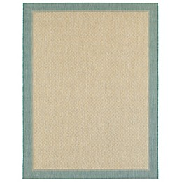 Miami Border Indoor/Outdoor Rug in Aqua