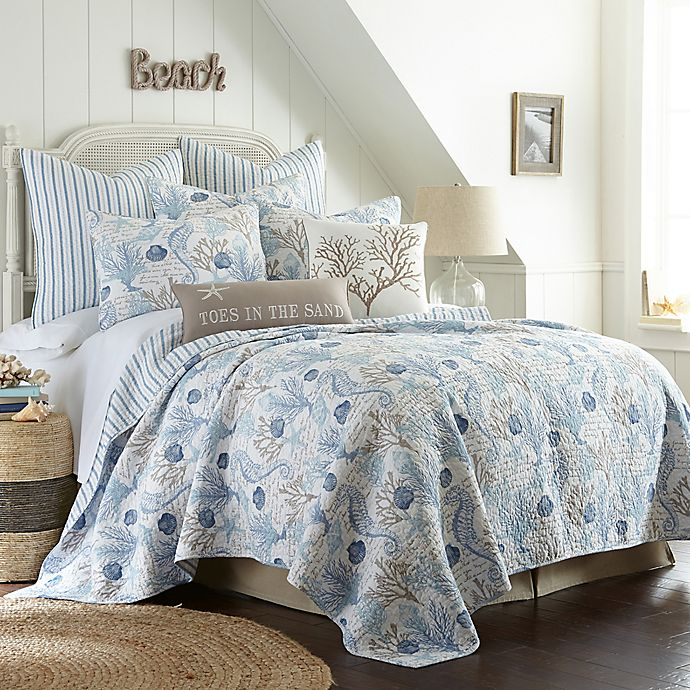 Sag Harbor Reversible Quilt In Blue Bed Bath Amp Beyond