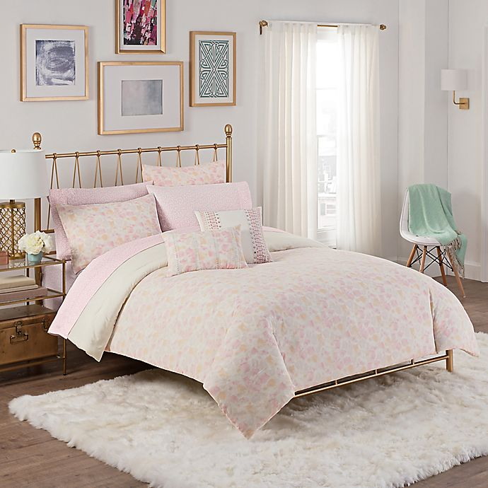 Cashmere Painted Fl Comforter Set
