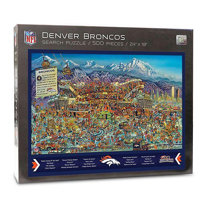 Alternate image 1 for NFL Denver Broncos 500-Piece Find Joe Journeyman Puzzle