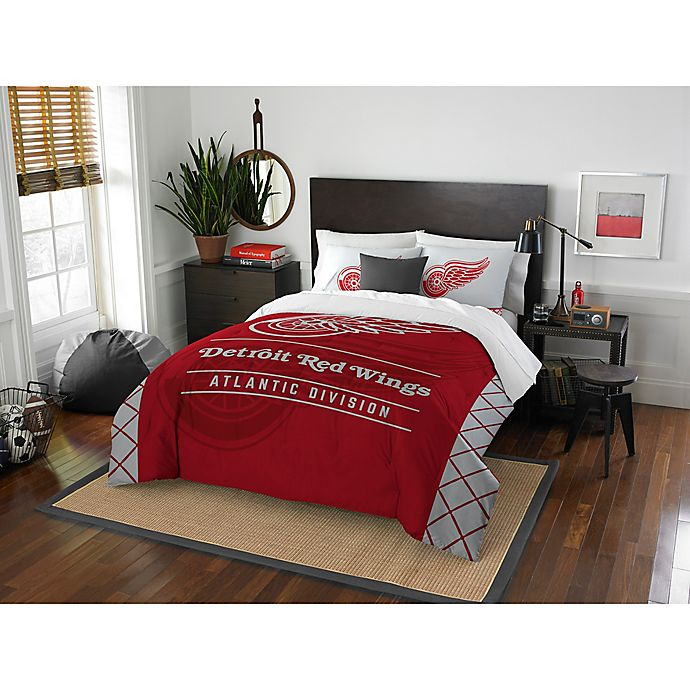96977a4cbb5 NHL Detroit Red Wings Draft Comforter Set