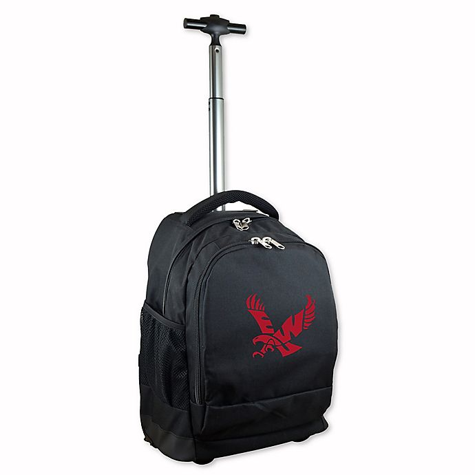 Alternate image 1 for Eastern Washington University 19-Inch Wheeled Backpack in Black