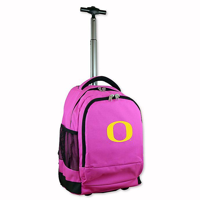 Alternate image 1 for University of Oregon 19-Inch Wheeled Backpack in Pink