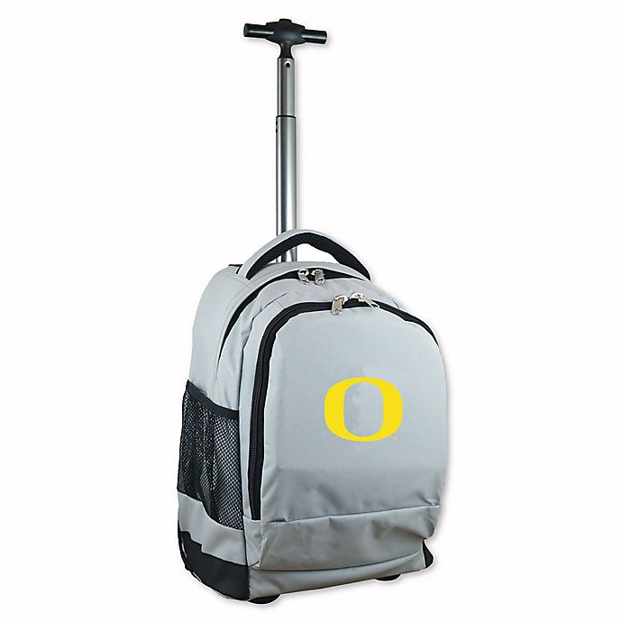 Alternate image 1 for University of Oregon 19-Inch Wheeled Backpack in Grey