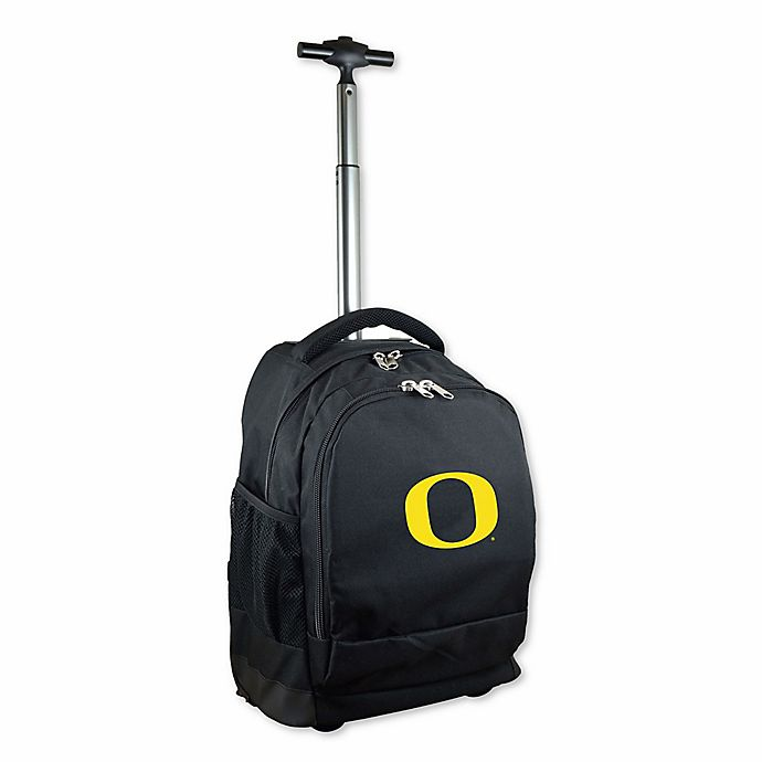 Alternate image 1 for University of Oregon 19-Inch Wheeled Backpack in Black