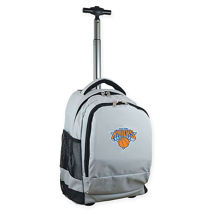 Alternate image 1 for NBA New York Knicks 19-Inch Wheeled Backpack in Grey