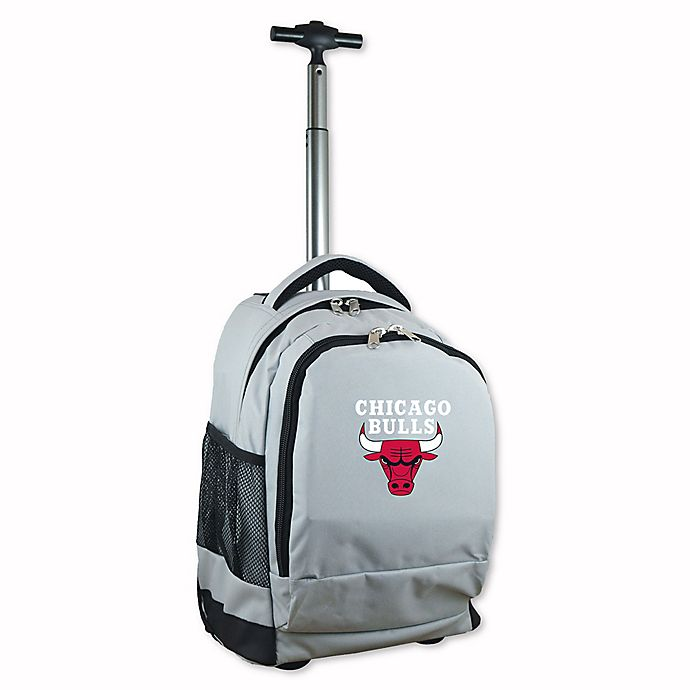Alternate image 1 for NBA Chicago Bulls 19-Inch Wheeled Backpack in Grey