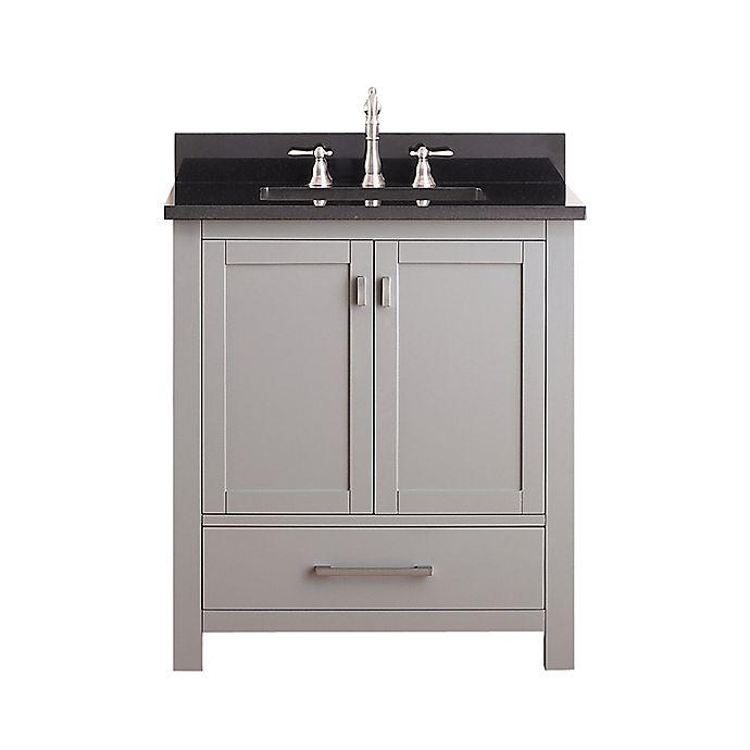 Alternate image 1 for Avanity Modero 31-Inch Vanity in Grey with Black Granite Top