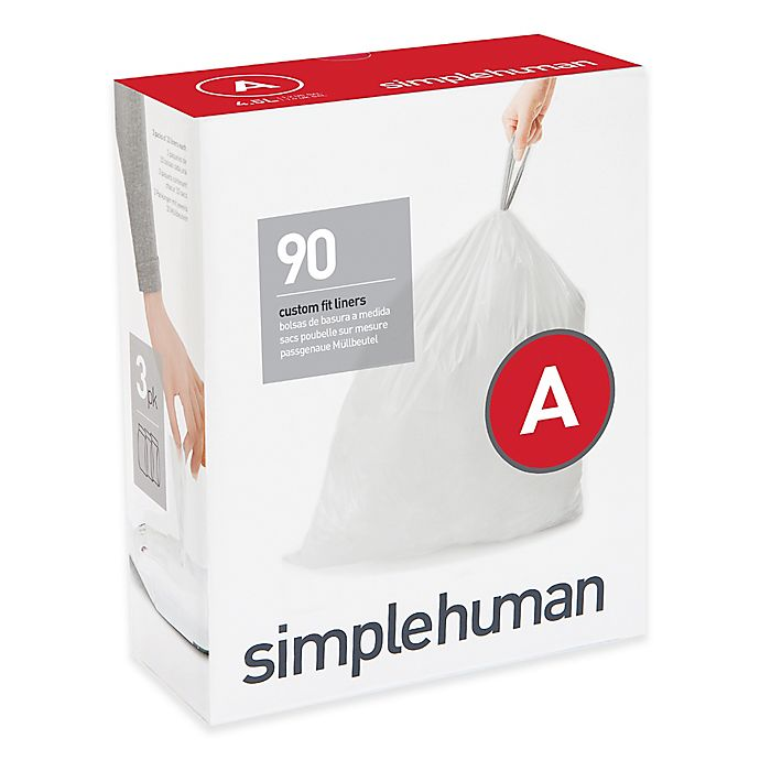 Alternate image 1 for simplehuman® Code A 90-Pack 4.5-Liter Custom-Fit Liners