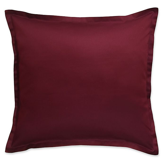 Alternate image 1 for 300-Thread-Count Cotton European Pillow Sham in Burgundy