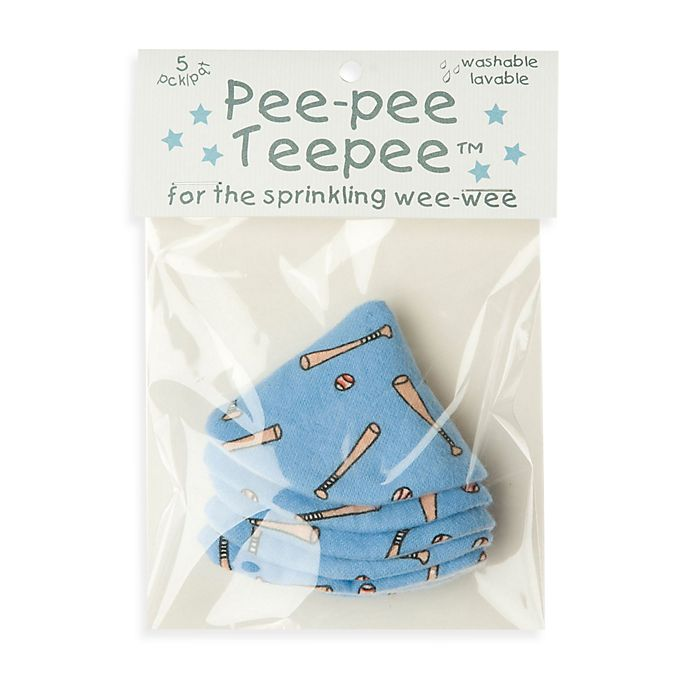 Alternate image 1 for beba bean 5-Pack Pee-Pee Teepee™ in Baseball