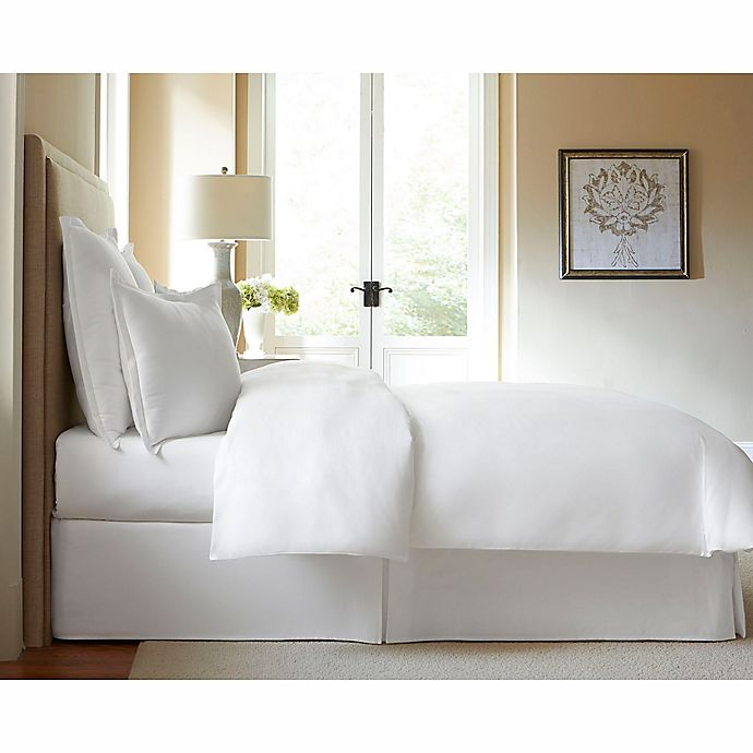 Alternate image 1 for 300-Thread-Count Cotton King Bed Skirt in White