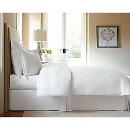 300-Thread-Count Cotton King Bed Skirt in White