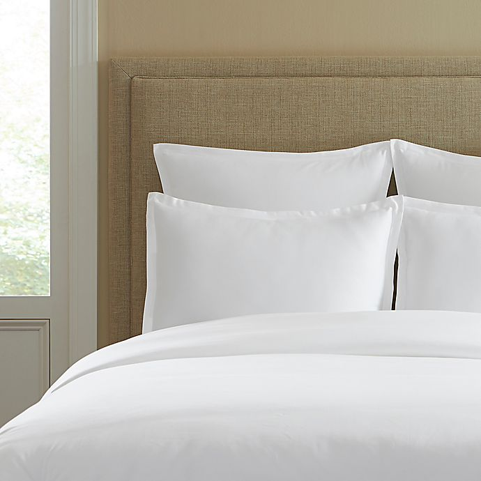 Alternate image 1 for 300-Thread-Count Cotton Standard Pillow Sham in White