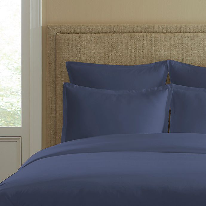 Alternate image 1 for 300-Thread-Count Cotton Standard Pillow Sham in Blue Jean