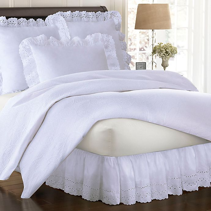 Alternate image 1 for Smootheweave™ Ruffled Eyelet Bed Skirt