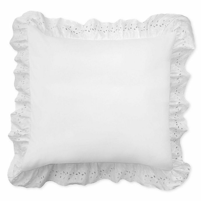 Alternate image 1 for Smootheweave™ Ruffled Eyelet European Pillow Sham