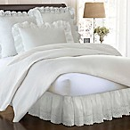 Smootheweave™ Ruffled Eyelet 18-Inch Queen Bed Skirt in Ivory